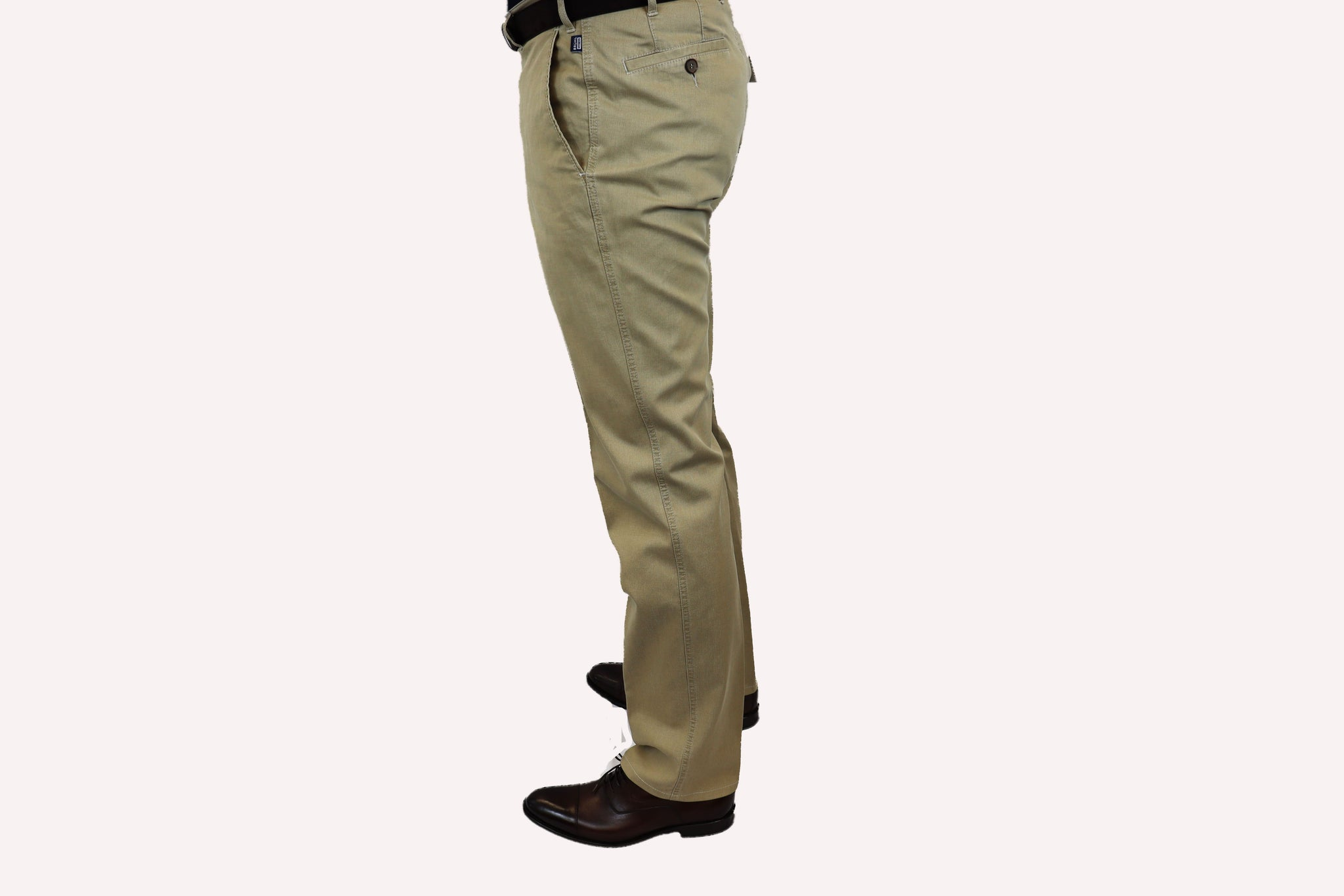 Bruhl Light Tan Soft Rib Chino
