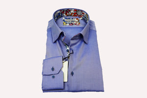 Giordano Modern Fit Under Button Down Blue