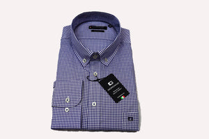 Giordano Regular Fit Gingham Blue