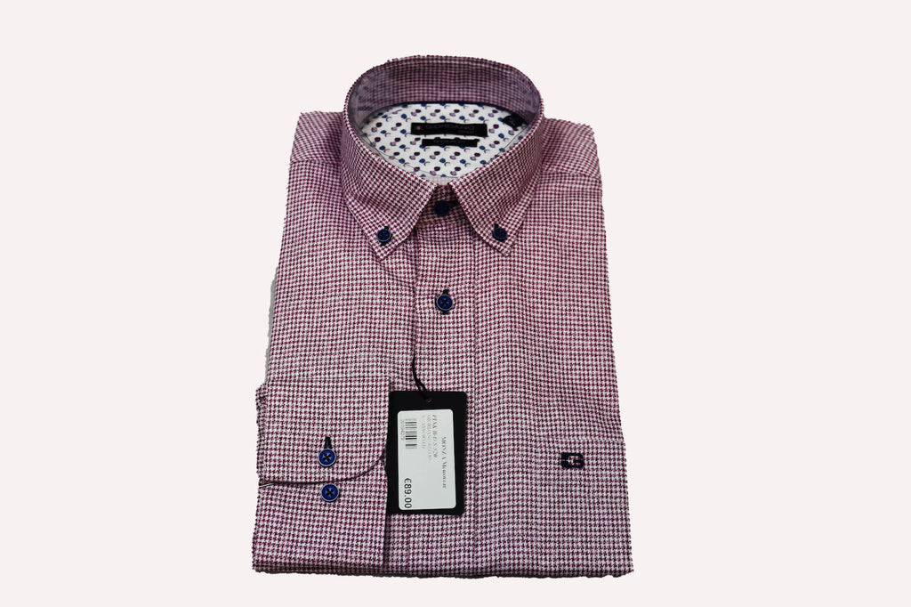 Giordano Regular Fit Gingham Red