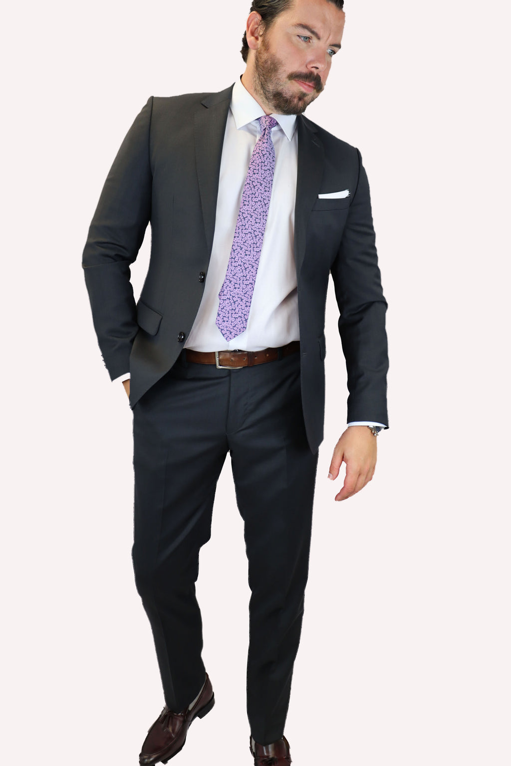 Feraud Charcoal Grey Fine Wool Suit