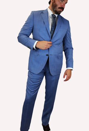 Feraud Light Blue Summer Weight Fine Wool Suit