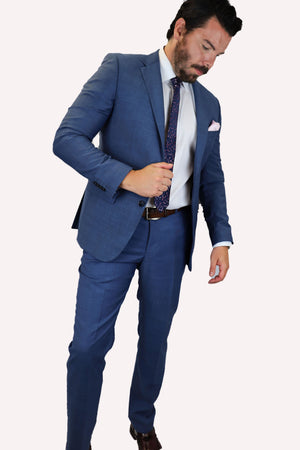 Feraud 110 Wool Mid Blue Suit