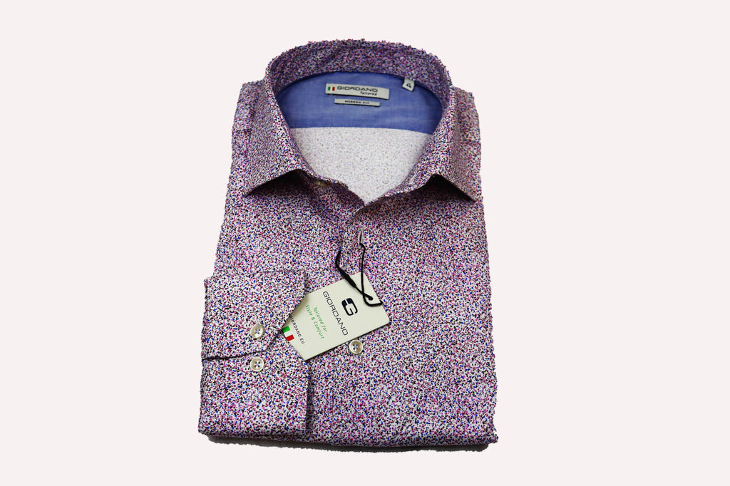 Giordano Modern Fit Paisley Spread Collar Detail