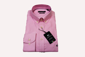 Giordano Regular Fit Gingham Pink