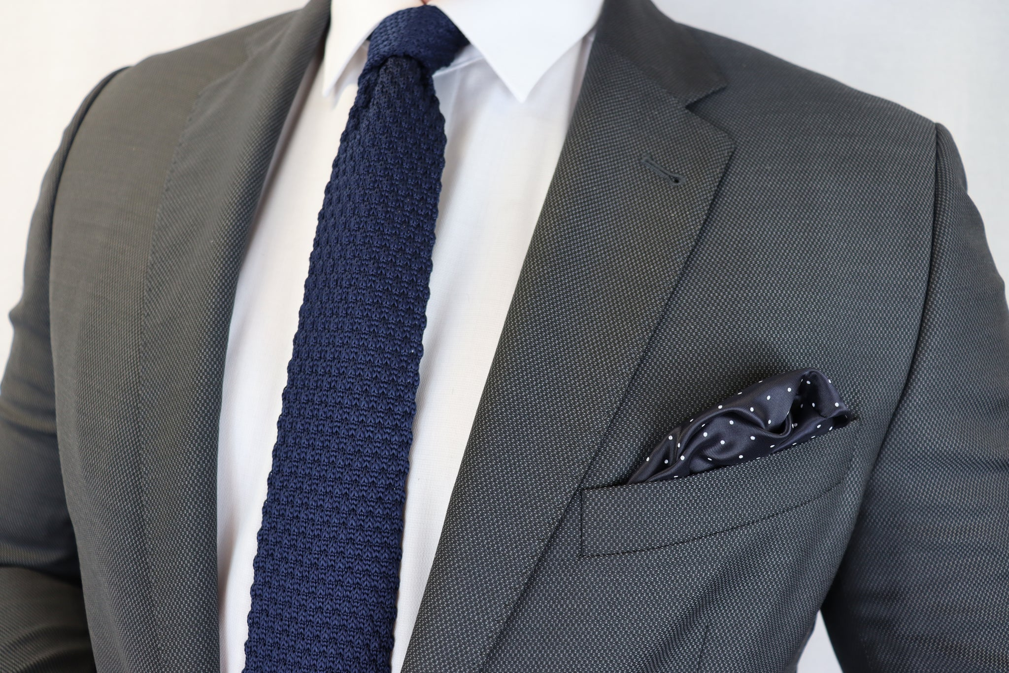 Feraud Poplin Grey Fine Wool Suit