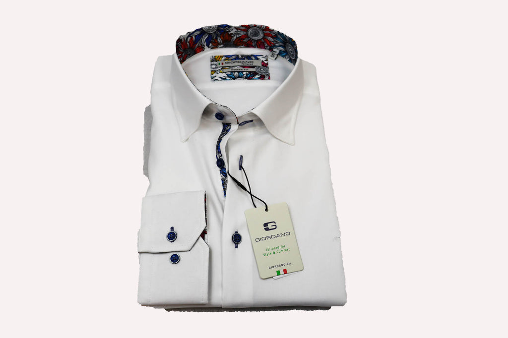 Giordano Modern Fit Under Button Down White