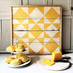 Cheddar and Biscuit Barn Quilt