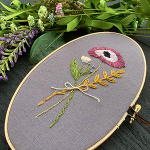 Pansy Petal Embroidery