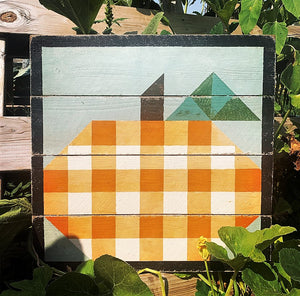 Gingham Pumpkin Patch Barn Quilts