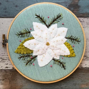 Winter Bloom Embroidery Kit