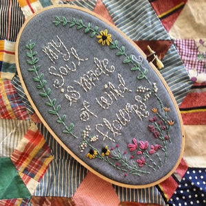 My Soul is Filled With Wildflowers Hoop-Art Embroidery Kit