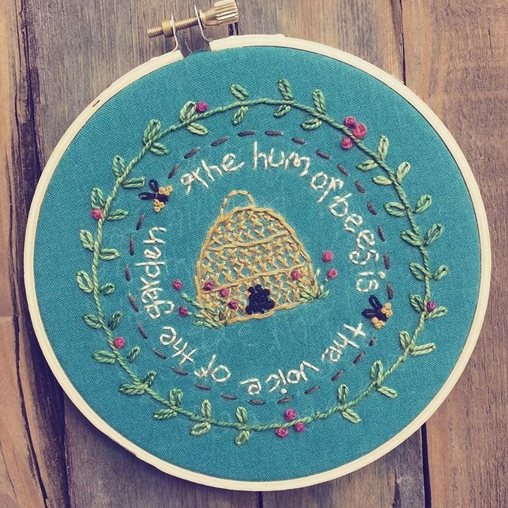 The Hum of Bees Hoop Art Embroidery Kit