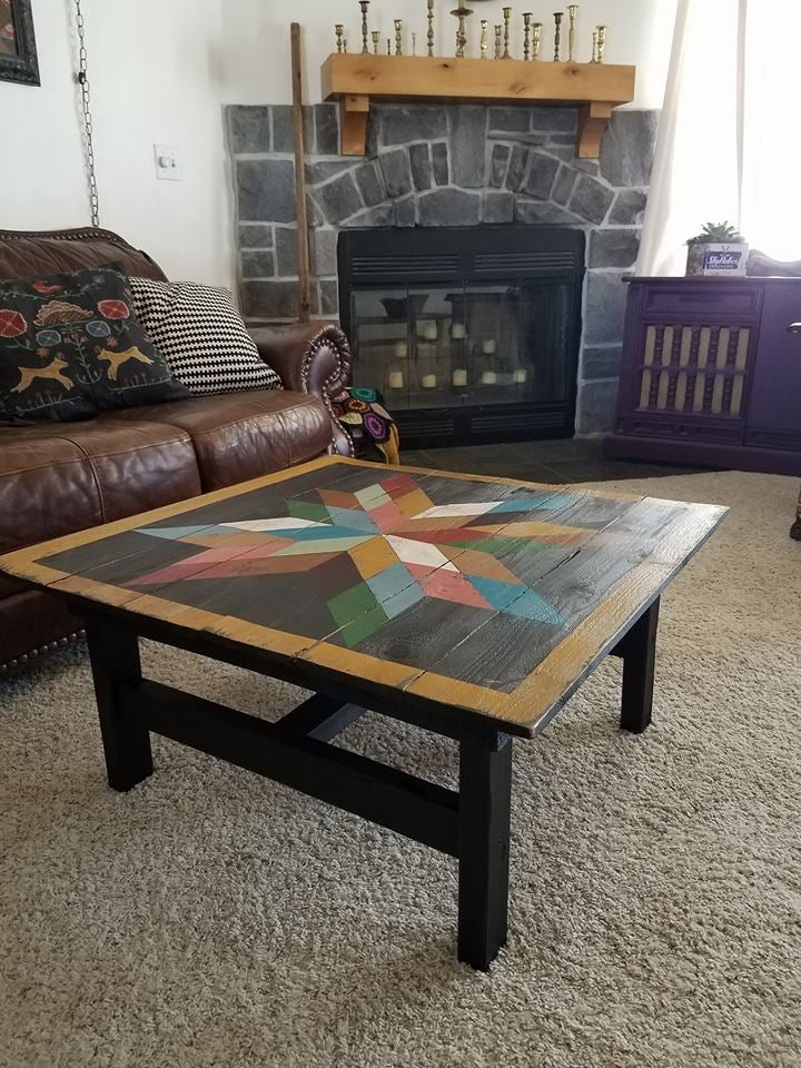 Texas Star Barn Quilt Table