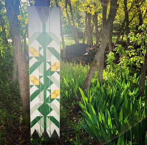 Little Pieces Corn Stalk Barn Quilt