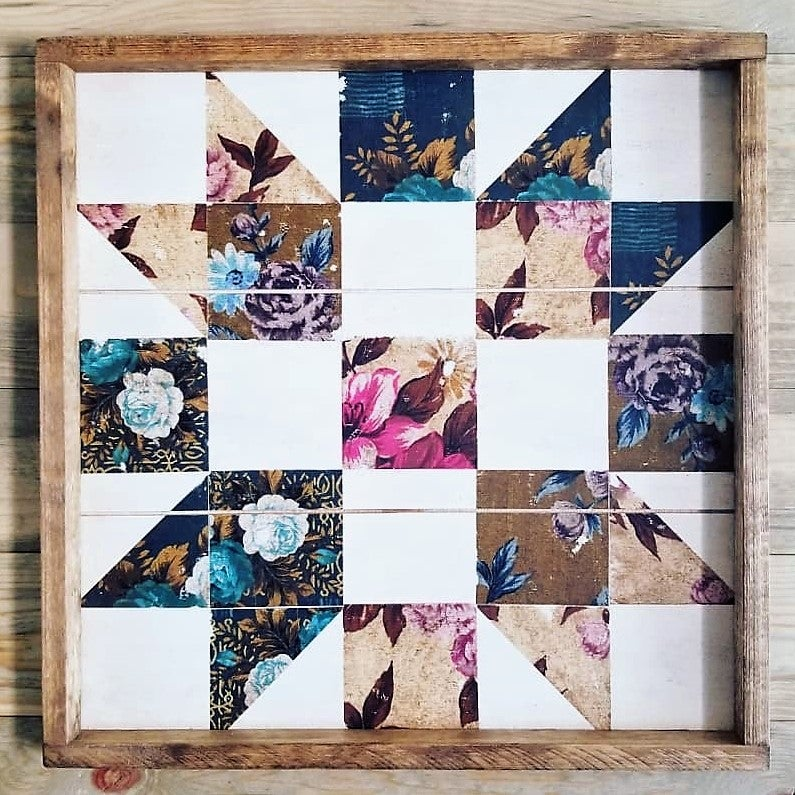 Wild Rose Farmer's Daughter Floral Barn Quilt