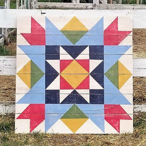 Sunrise Star Barn Quilt