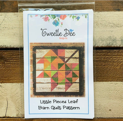 Little Pieces Leaf Barn Quilt Pattern