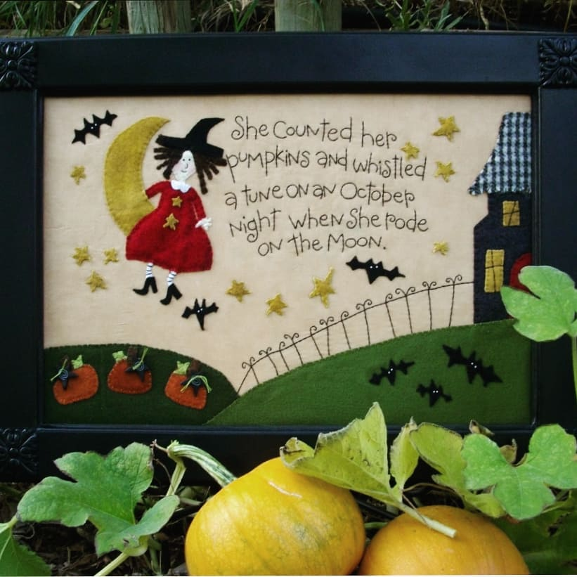 She Counted her Pumpkins Embroidery Kit & Pattern