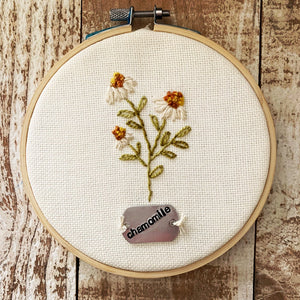 Little Chamomile Wildflower Embroidery Kit & Pattern