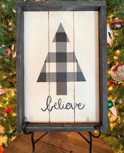 Believe Barn Quilt