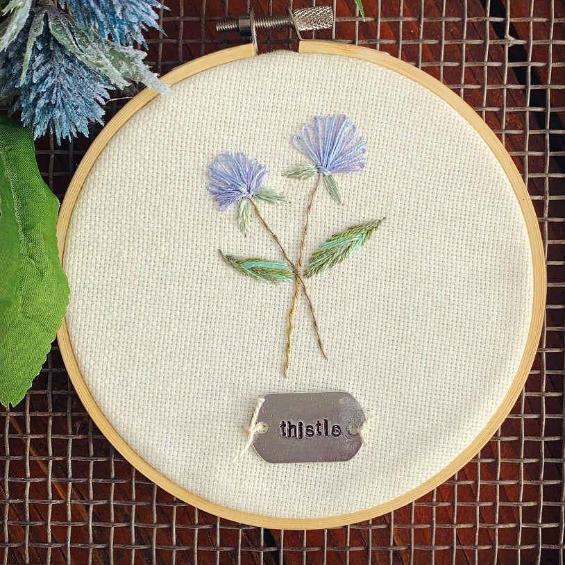 Little Thistle Wildflower Embroidery Kit
