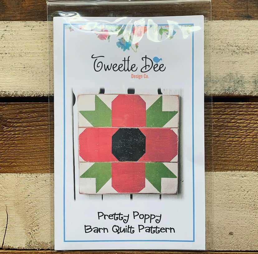 Pretty Poppies Barn Quilt Pattern