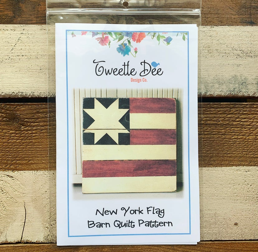 New York Flag Barn Quilt Pattern