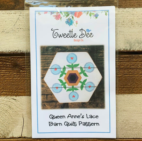 Queen Anne's Lace Barn Quilt Pattern