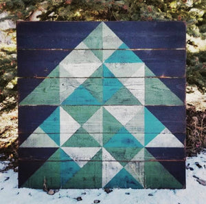 Little Pieces Tree Barn Quilt