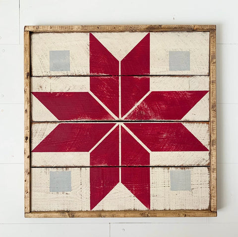 Alpine Star Barn Quilt