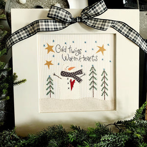 Cold Twigs Warm Hearts Embroidery Kit