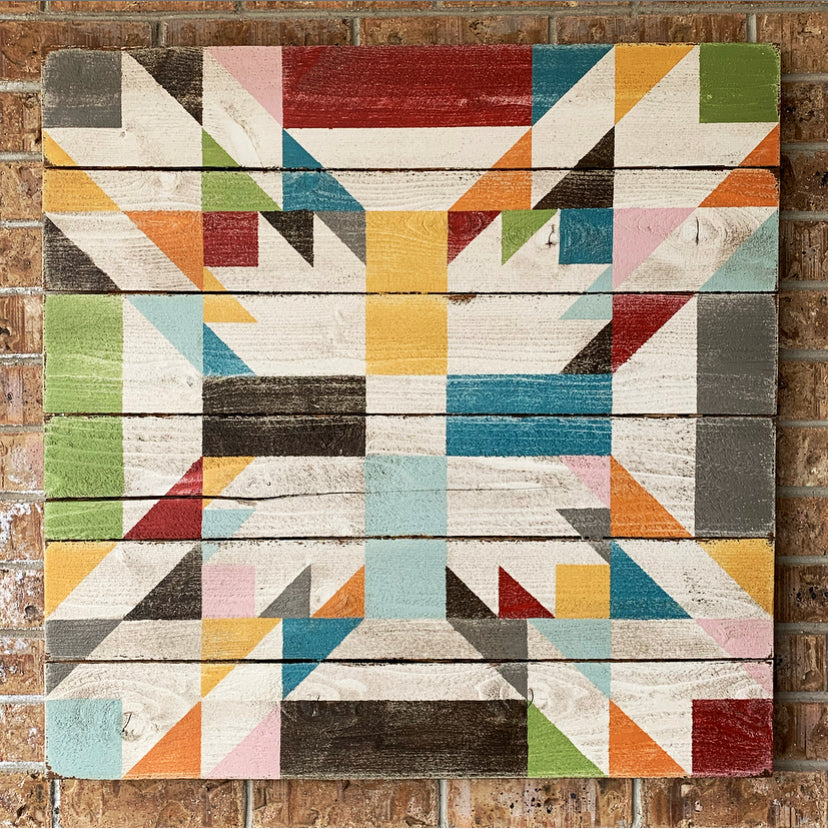 Double Bear Paw Barn Quilt