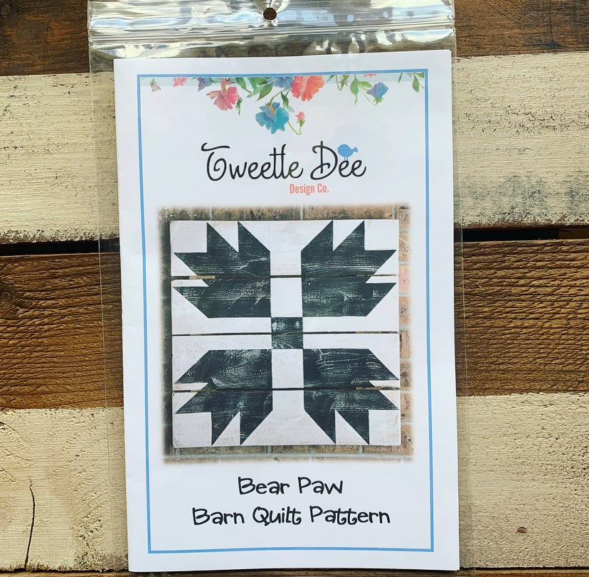 Bear Paw Barn Quilt Pattern