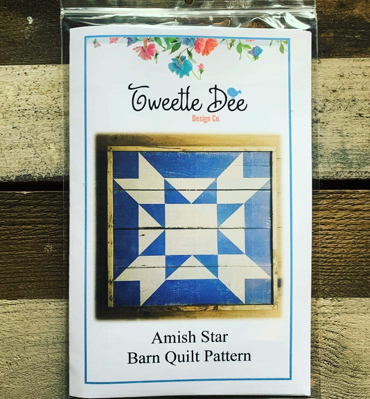Amish Star Barn Quilt Pattern