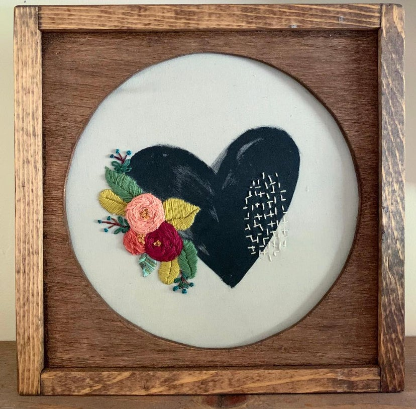 Painted Hearts Embroidery Kit