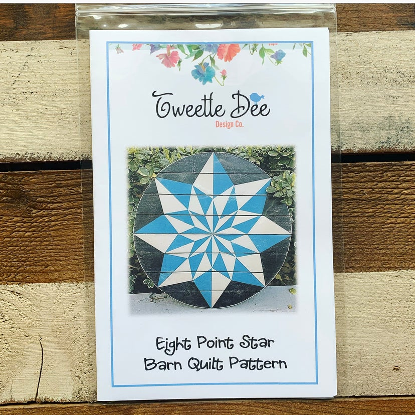 Eight Point Star Barn Quilt Pattern