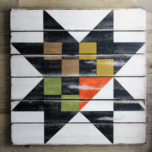 Checkered Star Barn Quilt