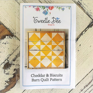 Cheddar and Biscuit Barn Quilt Pattern