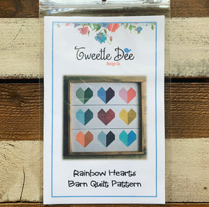 Rainbow Hearts Barn Quilt Pattern