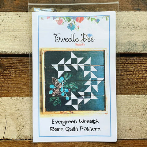 Evergreen Wreath Barn Quilt Pattern
