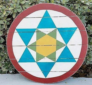 Star of David Amish Hex Barn Star