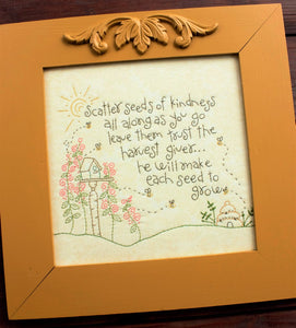 Scatter Seeds of Kindness Embroidery Kit