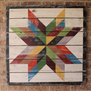 Autumn Texas Star Barn Quilt