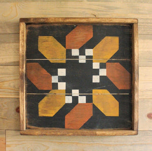 Framed Over Acorn and Berry Barn Quilt