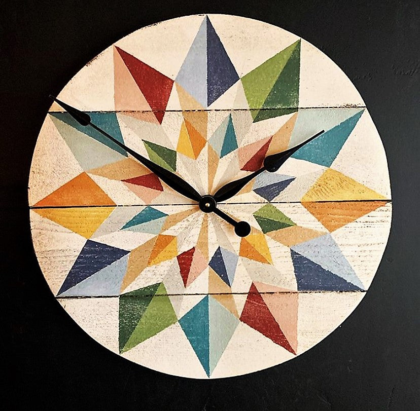 Kaleidoscope Barn Quilt Clock