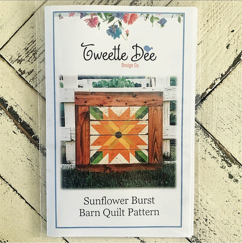 Sunflower Burst Barn Quilt
