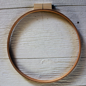 Vintage Stained Wood Embroidery Hoop - Large
