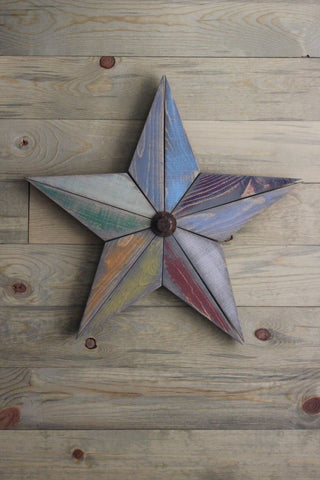 Farmhouse Multi Color Barn Star