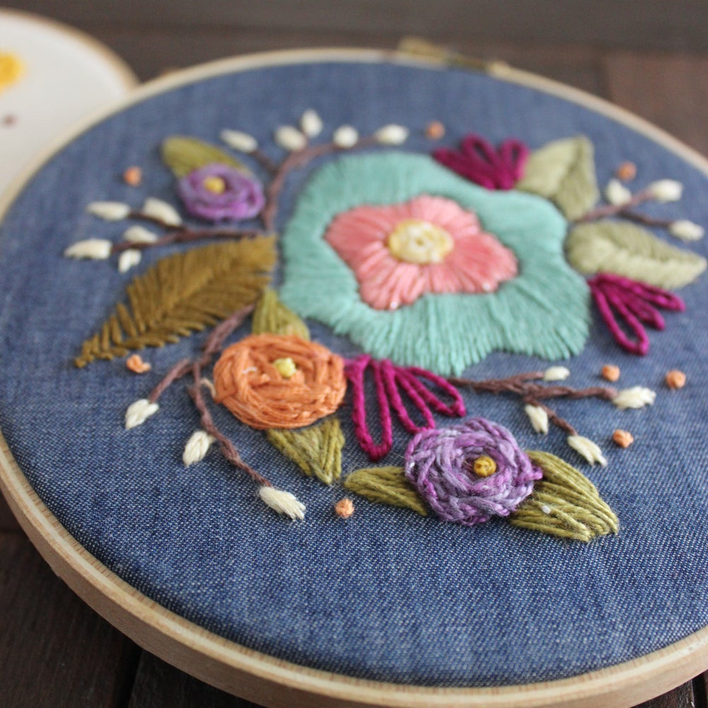 Willow and Rose Hoop Art Embroidery Kit